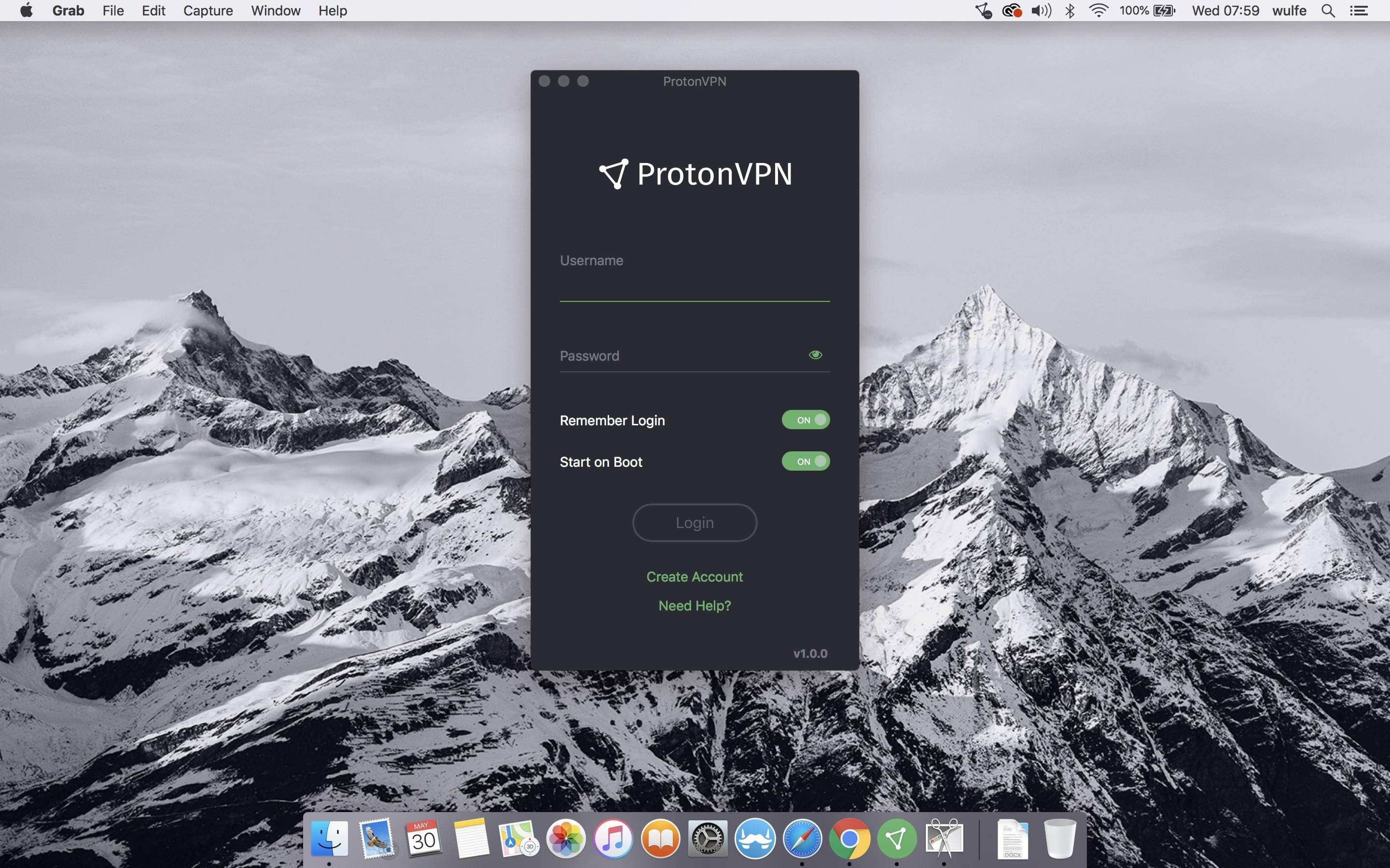 ProtonMail lock icon in white