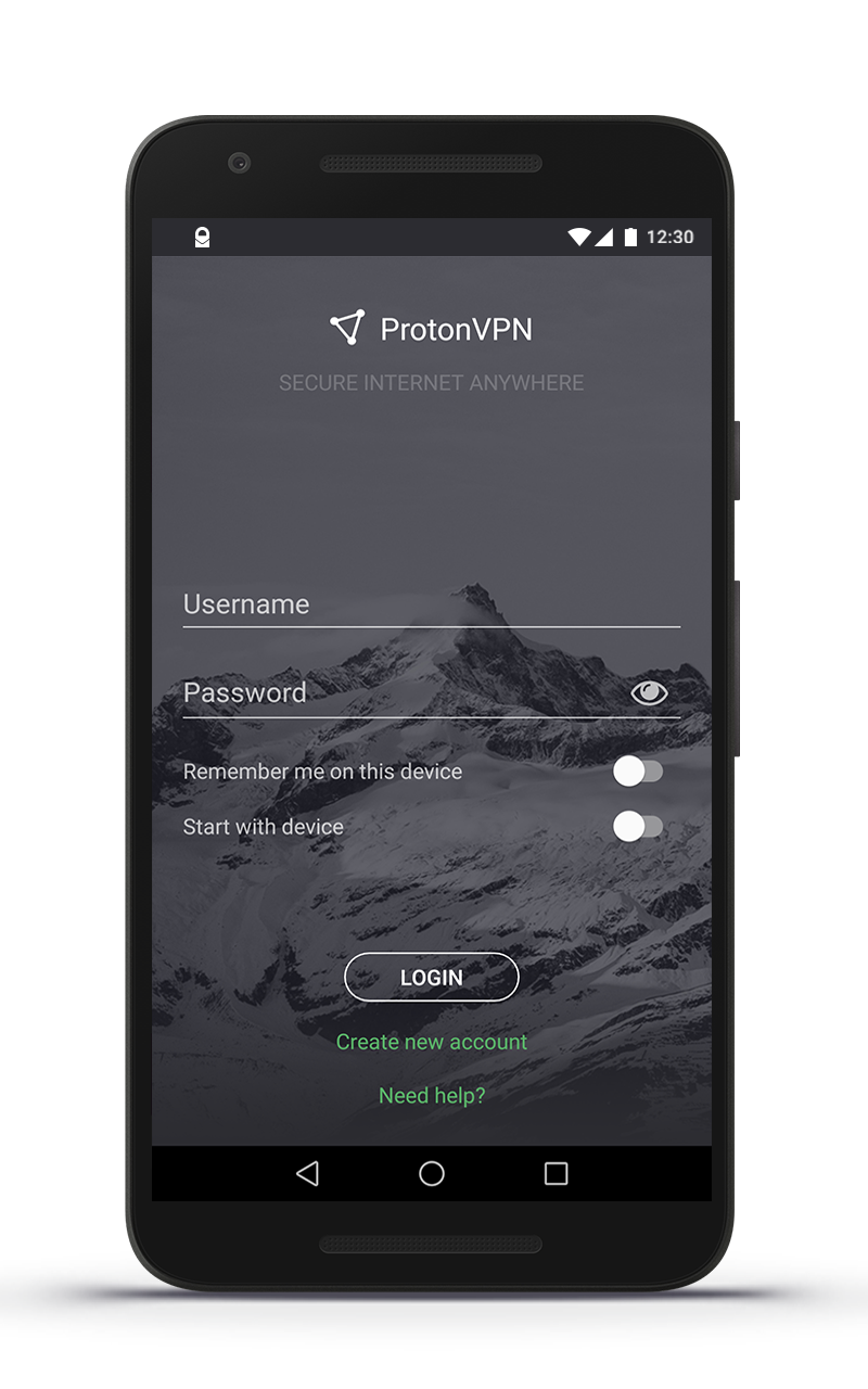 ProtonVPN android screenshot