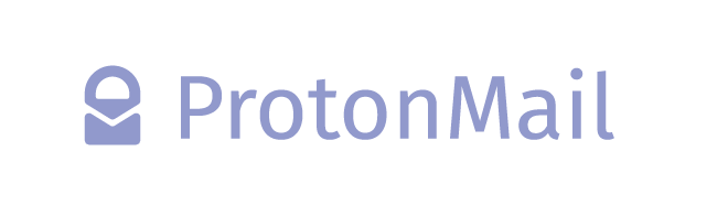 ProtonMail logo with lock icon and text in light green