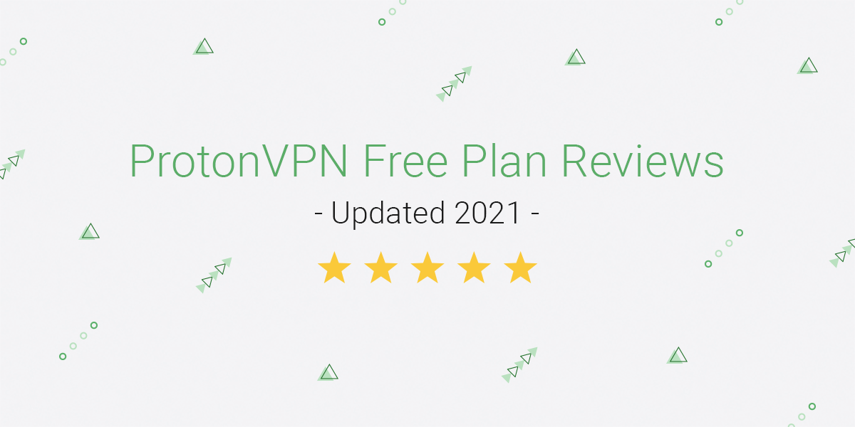 "A title card announcing ""ProtonVPN Free Plan reviews 2021"""