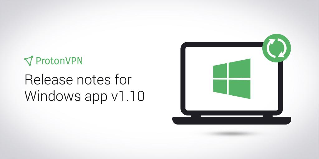 An illustration of ProtonVPN Windows app update