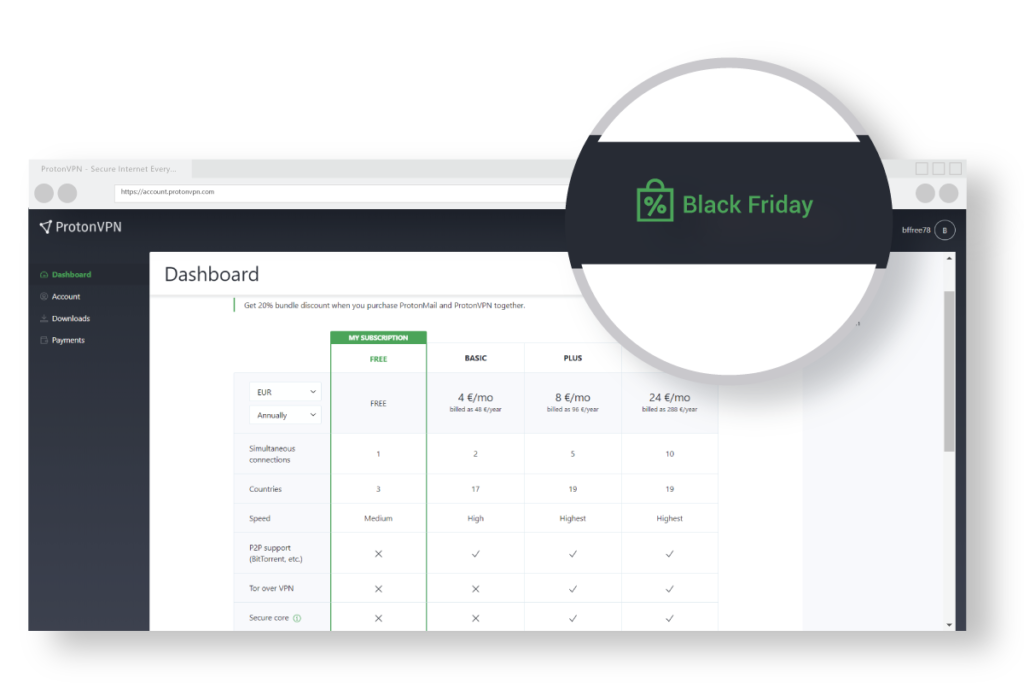 illustration of how to get ProtonVPN Black Friday