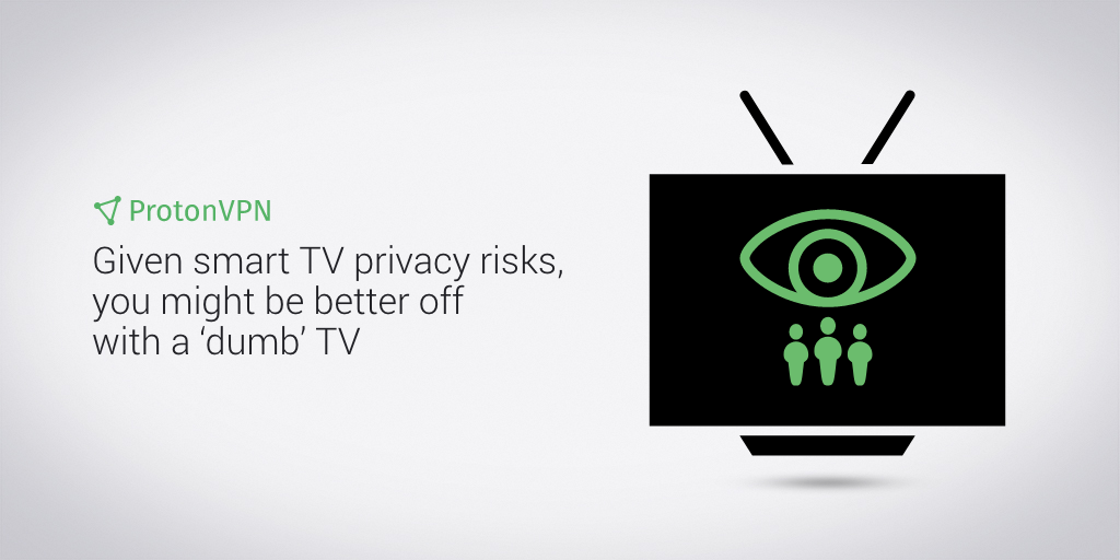 Illustration of smart tv monitoring its users' data.
