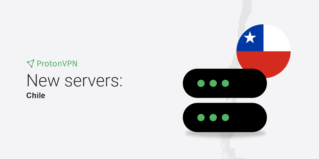 An illustration of eight new VPN servers in Chile.