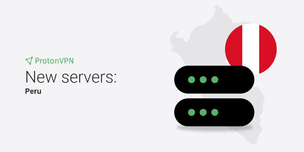 An illustration of eight new VPN servers in Peru.