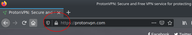 A screenshot of the padlock you see when the site you are visiting is HTTPS-encrypted.