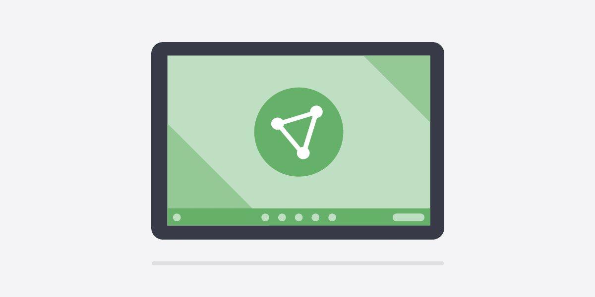 An illustration of the ProtonVPN app for Chromebook.