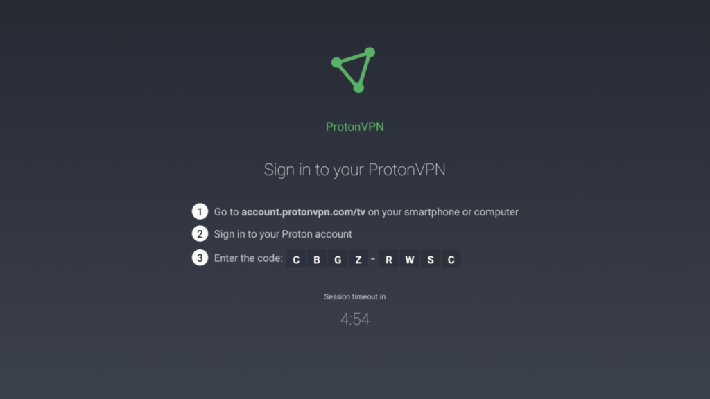 Android TV sign in