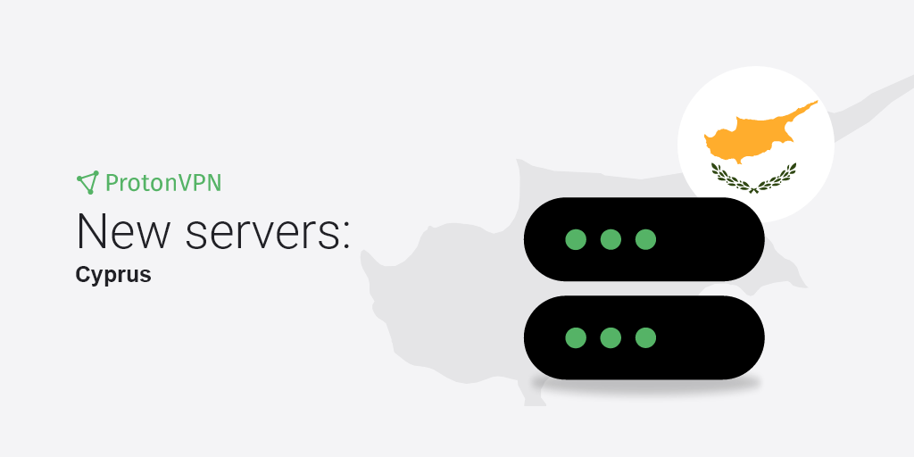 An illustration of new VPN servers in Cyprus.