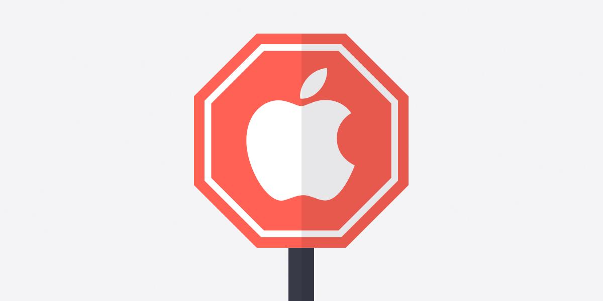 An illustration of Apple blocking ProtonVPN security updates.