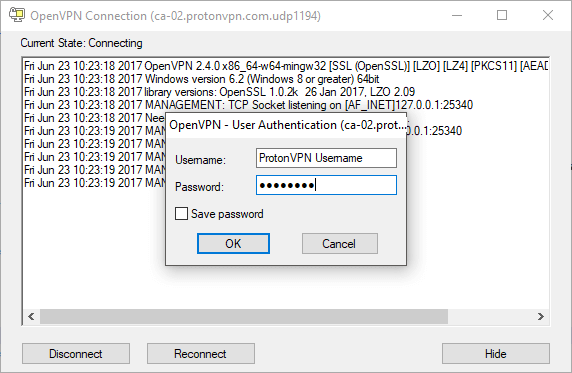 How to use ProtonVPN with the OpenVPN GUI on Windows