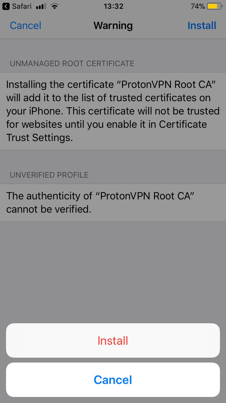 ProtonVPN iOS manual IKEv2 VPN setup - ProtonVPN Support