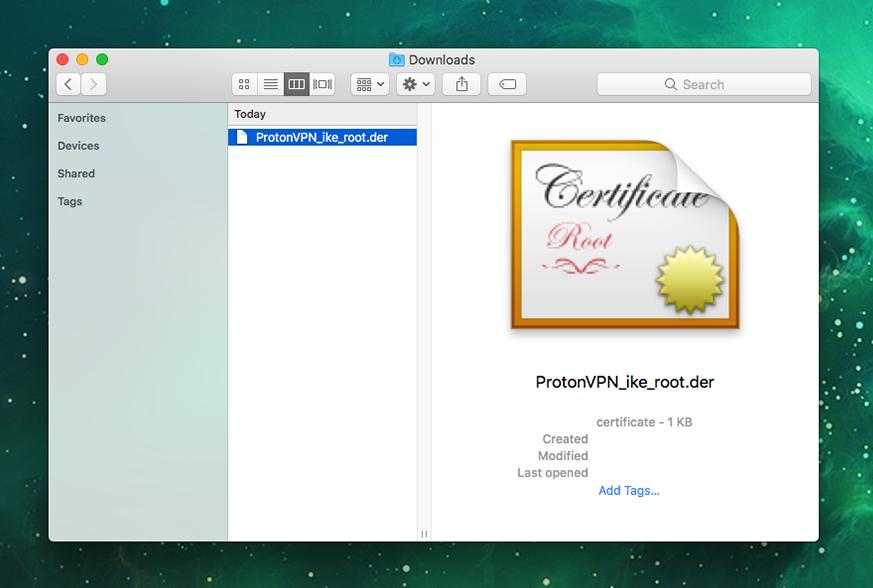 Vpn setup for mac