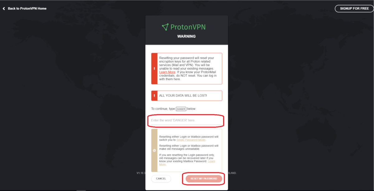 How to reset the ProtonVPN account password - ProtonVPN Support