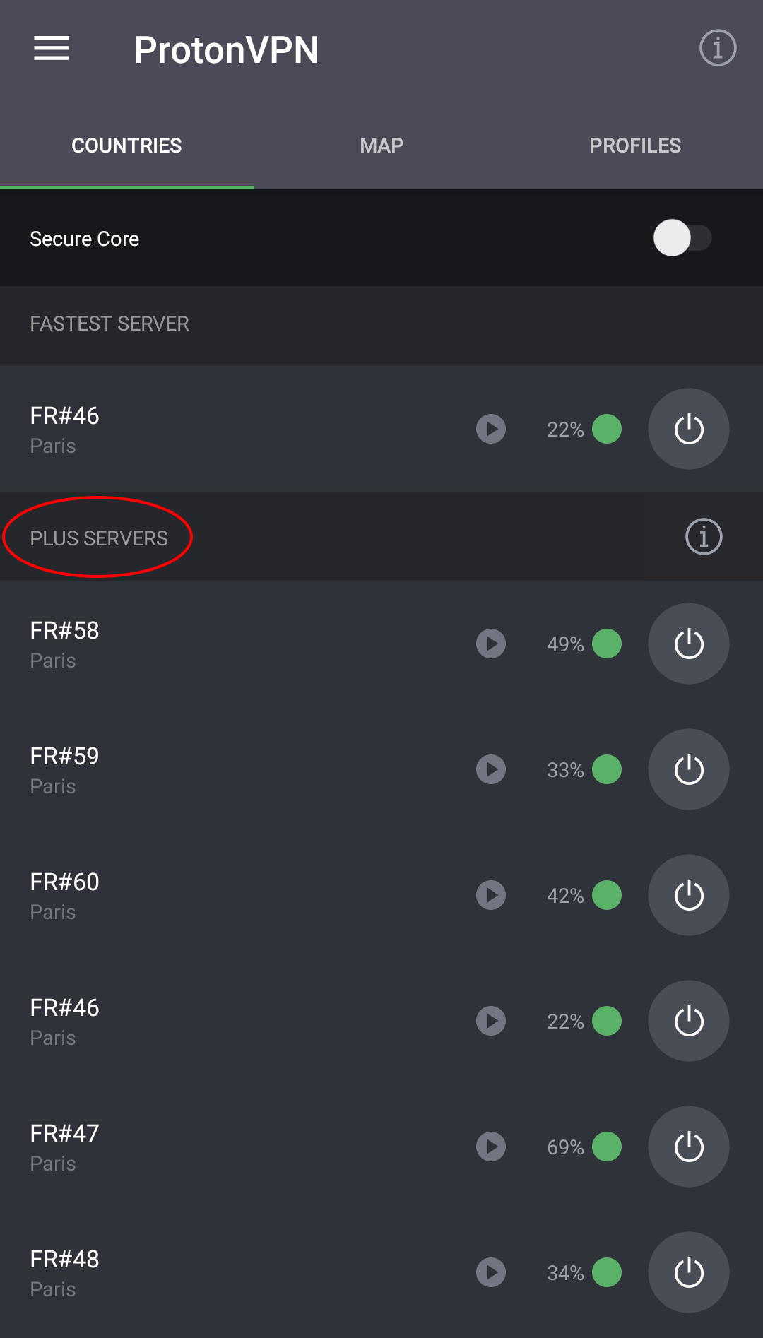 French plus servers android