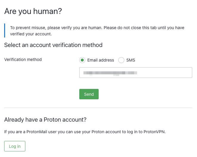 human proof check protonvpn