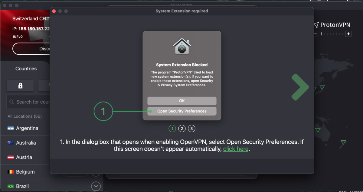 Enable OpenVPN and Smart Protocol in macOS 3