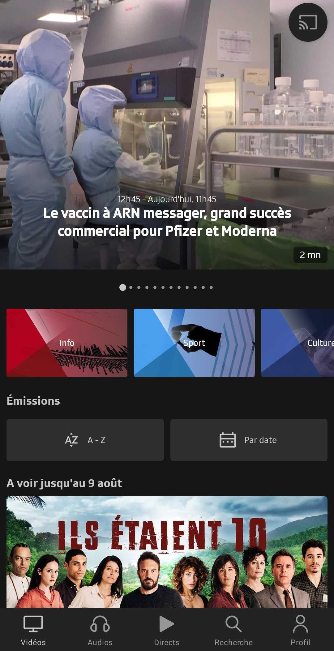 RTS on Android app ProtonVPN