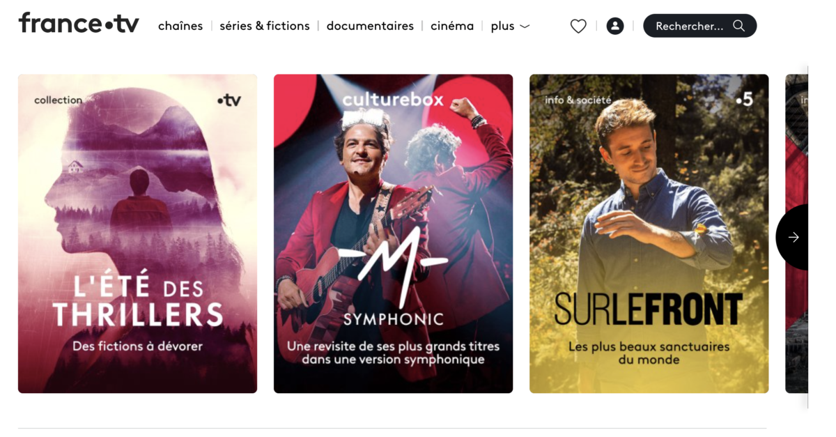 france tv home page