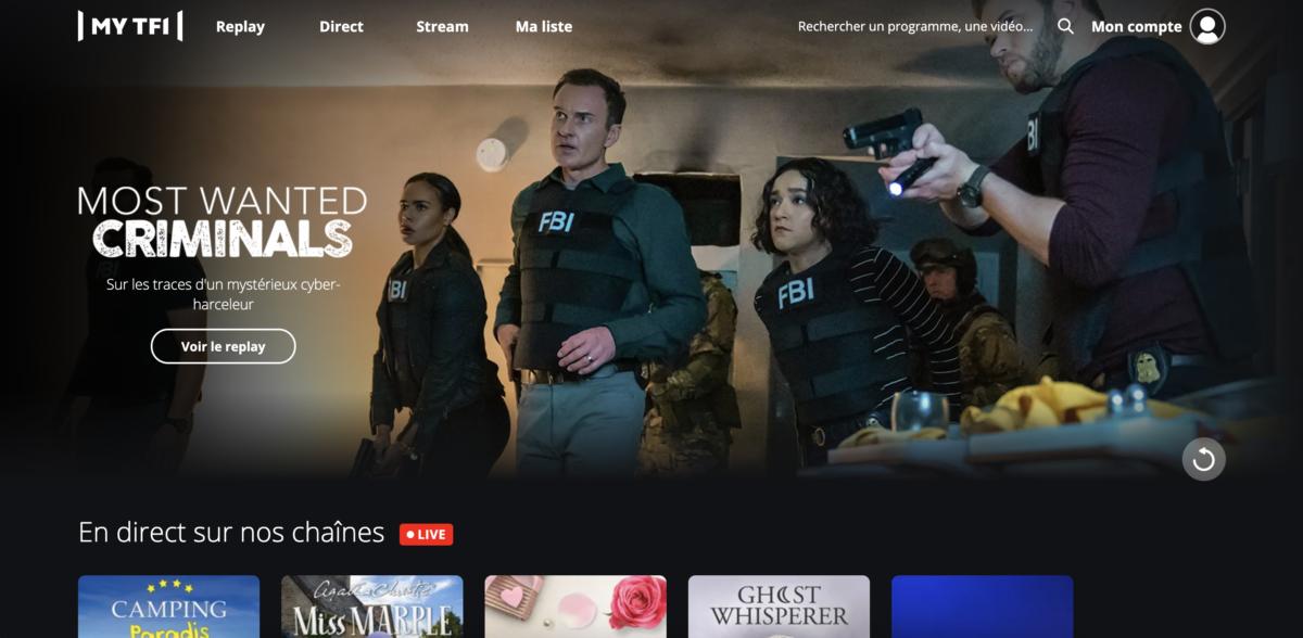 TF1 homepage