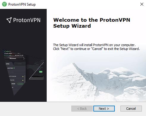 windows setup protonvpn