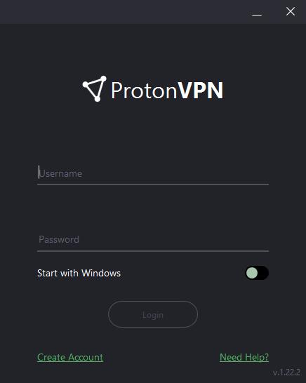protonvpn windows sign in
