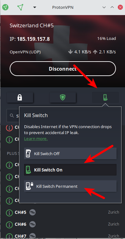Linux kill switch and permanent kill switch