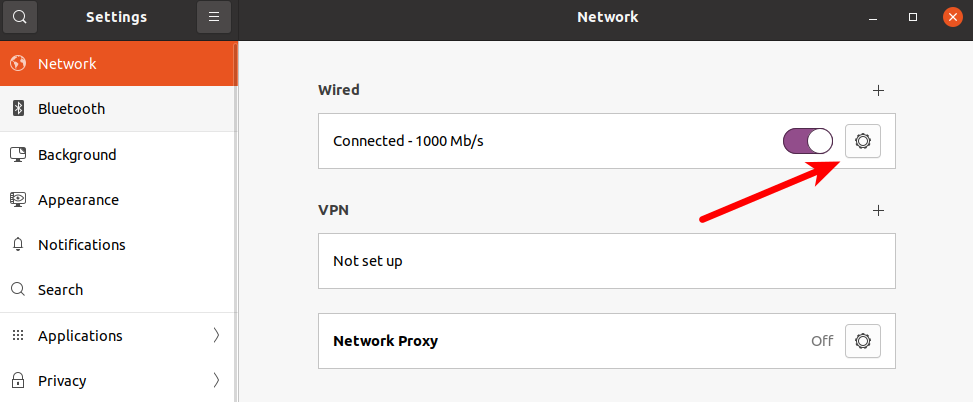 Find your network connection