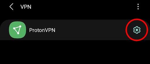ProtonVPN android settings