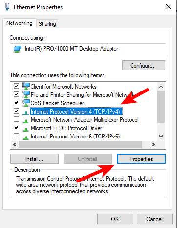 Windows IPv4 setting